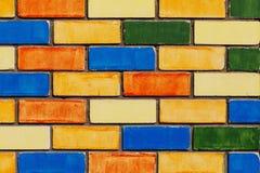 Стена покрашенная кирпичом Стоковое фото RF