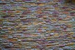 Стена покрашенного кирпича Стоковая Фотография