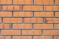 Стена построенная от глины красного кирпича Стоковые Фото