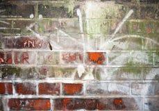 Стена поцарапанная и вытравленная в внутренний тоннель Стоковая Фотография