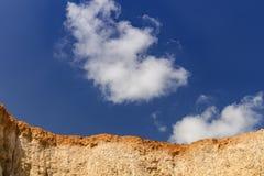 Стена почвы и ясное небо Стоковые Изображения RF