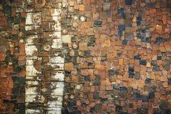 стена предпосылки текстурированная кирпичом Стоковые Изображения