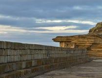 Стена пристани Burghead. Стоковое Фото