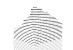 стена пробивания изоляции Стоковое фото RF