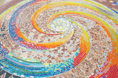 стена плитки искусства сделанная от великолепной плитки Стоковая Фотография RF