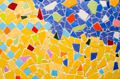 стена плитки искусства сделанная от великолепной плитки Стоковое Изображение