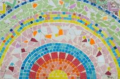 стена плитки искусства сделанная от великолепной плитки Стоковые Фото