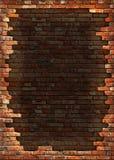 стена рамки кирпича grungy Стоковая Фотография