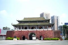 Стена древнего города Китая стоковое изображение rf