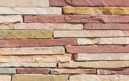 стена сада фронта цветка кирпича коричневая текстура камня детали конца предпосылки зодчества вверх Стоковое фото RF