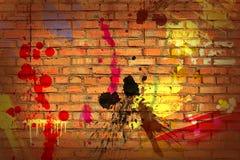 стена сбора винограда кирпича Стоковая Фотография