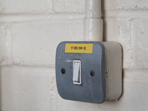стена светлого переключателя Стоковое Изображение RF
