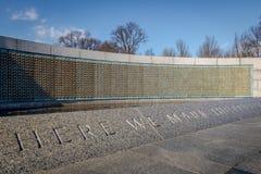 Стена свободы на мемориале Второй Мировой Войны - Вашингтоне, d C , США Стоковое Изображение
