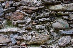 Стена сделанная естественных утесов Стоковая Фотография RF