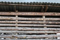 Стена сеновала от деревянного croaker 30778 Стоковое Изображение