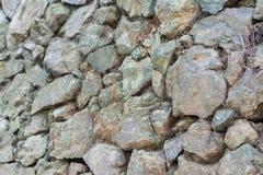 Стена серого цвета каменная Стоковая Фотография RF