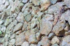 Стена серого цвета каменная Стоковое Фото