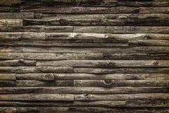 Стена сельского дома сделанного от журналов teak деревянных Тон sepia безшовного tex старый Стоковые Изображения