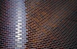 стена скошенная кирпичом угловойая декоративная Стоковые Изображения