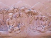Стена скульптуры глины Стоковые Изображения RF