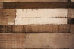 Стена смешанного цвета деревянная для предпосылки Стоковая Фотография RF