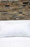 стена софы кирпича кожаная Стоковые Фото