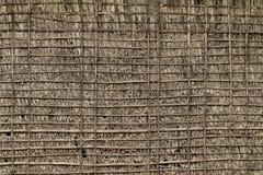 Стена соломы и бамбука Стоковое Фото