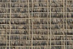 Стена соломы и бамбука Стоковое фото RF