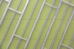 стена стали зеленого цвета фасада плакирования Стоковые Фото