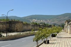 Стена старого города Derbent, Дагестана, России Стоковое Изображение RF