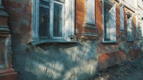 Стена старого загубленного здания сток-видео