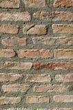 Стена старого крупного плана дома кирпича Стоковое Изображение RF