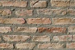 Стена старого крупного плана дома кирпича Стоковые Фотографии RF