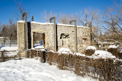 Стена старой мельницы каменная Стоковая Фотография
