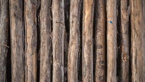 Стена старой планки деревянная Стоковое Фото