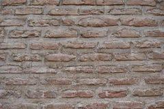 Стена старых коричневых кирпичей абстрактная предпосылка Стоковое Изображение RF