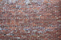 Стена старых красного кирпича и миномета Стоковое Фото