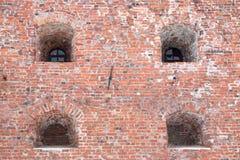 Стена старых крепости или тюрьмы Стоковое Изображение RF