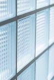Стена стеклянного блока, внутренняя светлая тень Стоковые Фото