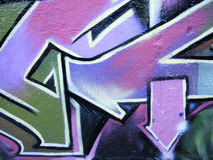 стена стрелок конкретная графическая Стоковые Фотографии RF