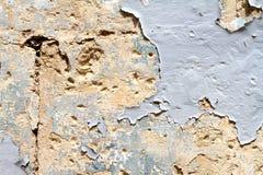 Стена с краской шелушения Стоковое фото RF
