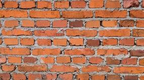 стена текстуры детали кирпича предпосылки зодчества старая красная Стоковое Фото