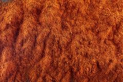 стена текстуры кирпича предпосылки старая Порошок перца красных чилей Взгляд сверху Стоковые Изображения RF