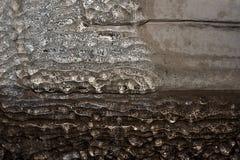 Стена текстуры покрытая с льдом стоковые фотографии rf