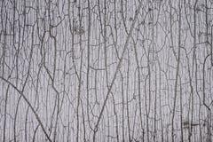 Стена текстуры предпосылки старая белая треснутая краски и плиток Стоковая Фотография