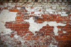 стена текстуры grunge кирпича красная Стоковая Фотография