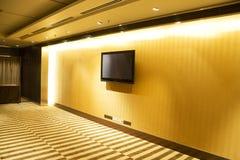 стена телевидения плоское экран Стоковое Изображение