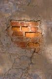 стена треснутая кирпичом Стоковое Изображение RF