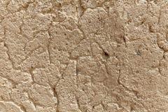 Стена треснутая цементом, промышленная предпосылка Стоковое Фото