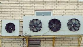 Стена установила промышленные топление и систему охлаждения здания мола акции видеоматериалы